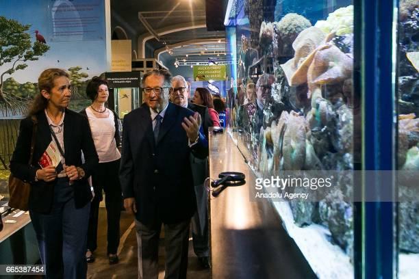 The Infanta Elena de Borbon visits the Cultural Catavento Museum in Sao Paulo Brazil on April 06 2017