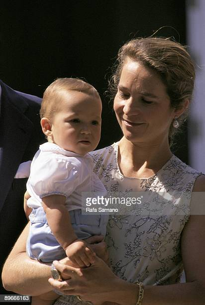 The infanta Elena de Borbon with her son Juan Froilan
