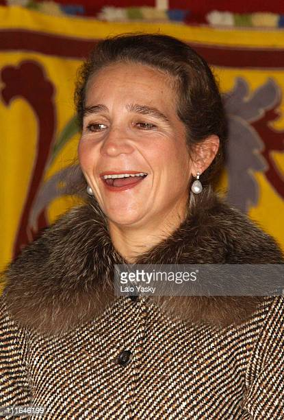 HRH the Infanta Elena Of Spain during HRH the Infanta Elena Of Spain Raises Money For Red Cross Day at Central Puerta Del Sol in Madrid Spain