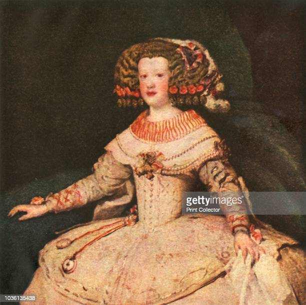 The Infanta Maria Teresa' circa 1653 Portrait of Maria Theresa of Spain aged about 15 Detail of a painting in the Kunsthistorisches Museum Vienna...