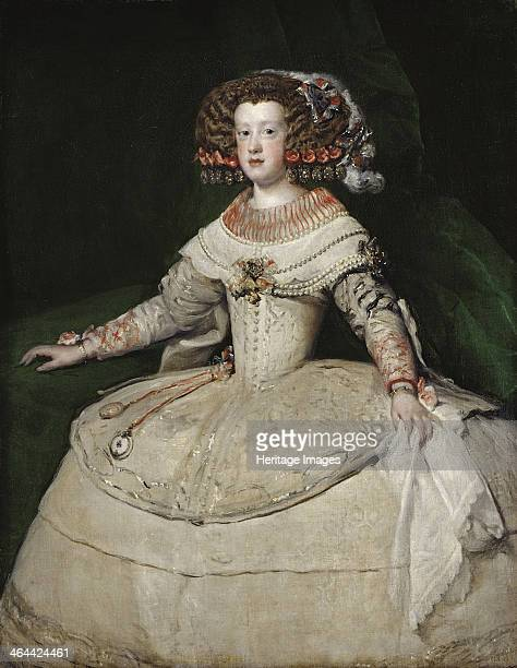 The infanta Maria Theresa of Spain 1650s Found in the collection of the Art History Museum Vienne