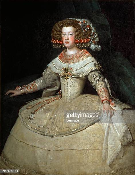 The Infanta Maria Theresa of Spain daughter of King Philip IV of Spain and his wife Isabella married Louis XIV of France Oil on canvas 127 x 985 cmby...