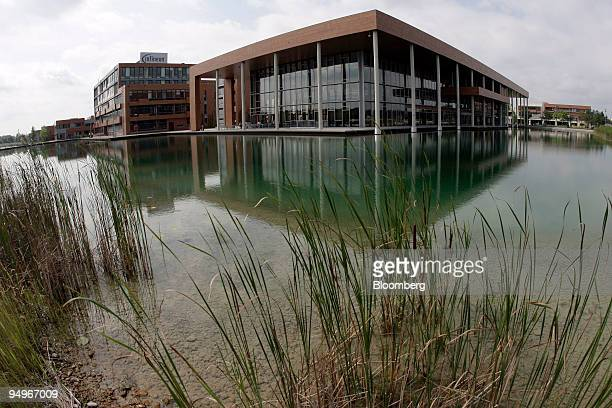 The Infineon headquarters stand in Ottobrunn near Munich Germany on Tuesday Aug 18 2009 Russia's AFK Sistema and Germany's Infineon Technologies AG...