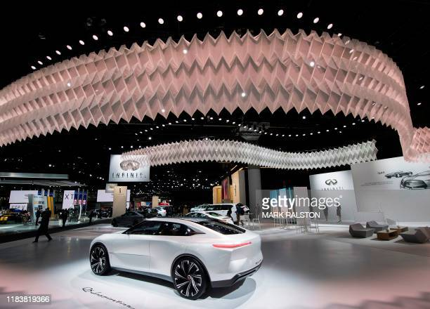 The Infiniti QS Inspiration Concept car on display during the AutoMobility LA event, at the 2019 Los Angeles Auto Show in Los Angeles, California on...