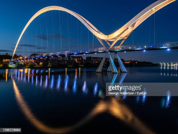 the infinity bridge across the river tees is located at stockton on tees. england. - stockton on tees stock pictures, royalty-free photos & images
