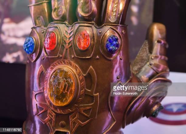 The Infinity Gauntlet at the Marvel Studios's Avengers Endgame opening day marathon event at El Capitan Theatre on April 25 2019 in Los Angeles...