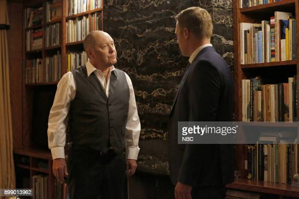 THE BLACKLIST 'The Informant ' Episode 510 Pictured James Spader as Raymond 'Red' Reddington Diego Klattenhoff as Donald Ressler