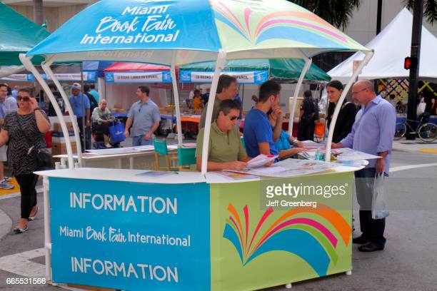 The information booth at the Book Fair Miami International