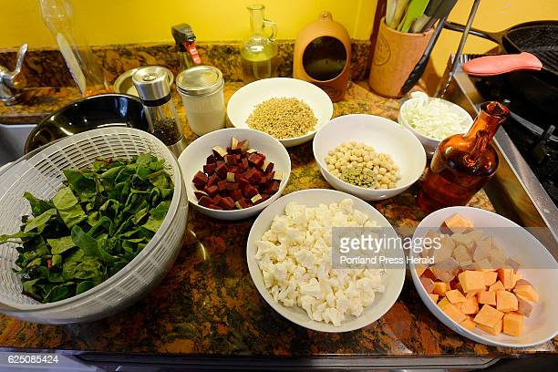 The ingredients for Roasted Winter Buddha Bowl Green Plate Special Tuesday November 15 2016