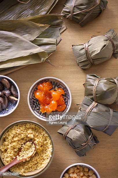 The ingredints of Chinese rice dumpling