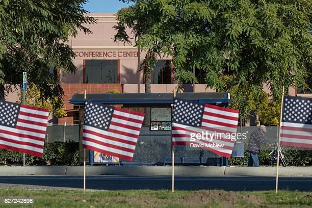 The Inland Regional Center, site of the San Bernardino massacre, is seen on December 2, 2016 in San Bernardino, California. Syed Rizwan Farook and...