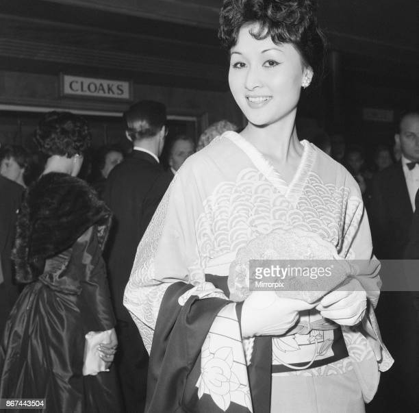 The Inn of the Sixth Happiness film premiere at The Odeon Leicester Square London Sunday 23rd November 1958 Eiko Ando who plays a geisha girl in the...