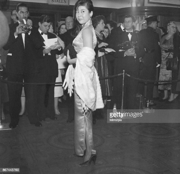 The Inn of the Sixth Happiness, film premiere at The Odeon, Leicester Square, London, Sunday 23rd November 1958. Tsai Chin who plays the character...