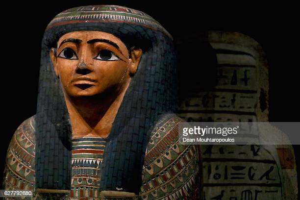 The Inner coffin of Kekoe displayed in part in the permanent Egyptian collection and also part of the 'Queens of the Nile' Exhibition held at the...