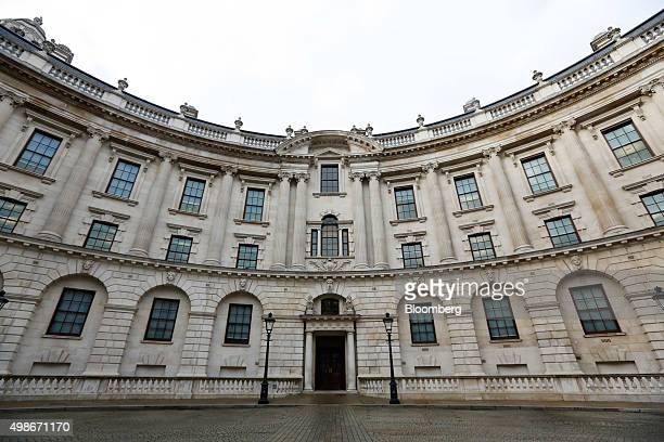 The inner courtyard at the HM Treasury building sits in London UK on Wednesday Nov 25 2015 UK 10year bond yields approached their lowest level this...