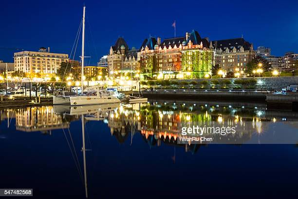 The Inner Harbor of Victoria at twilight