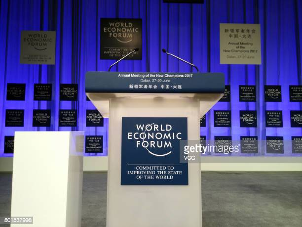 The inner view is pictured ahead of the Annual Meeting of the New Champions 2017 at Dalian International Conference Center on June 26 2017 in Dalian...