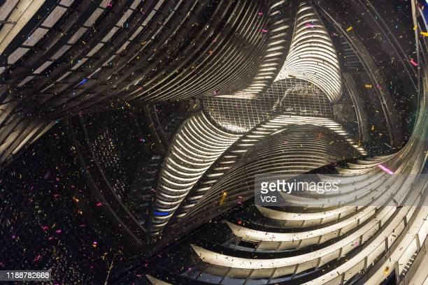 The inner view of Leeza Soho is seen during its grand opening on November 19 2019 in Beijing China Leeza Soho designed by Zaha Hadid Architects is a...