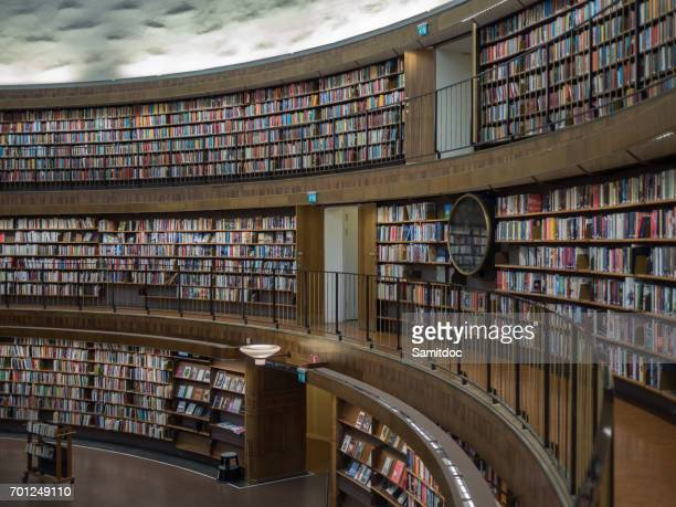 The inner view of Stockholm Public Library.