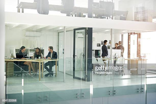 The inner workings of a modern office