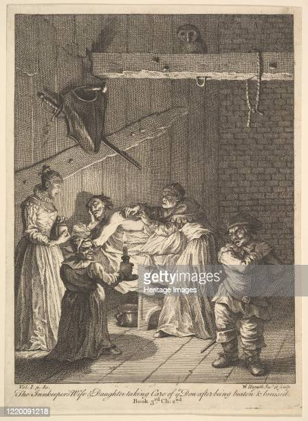 The Innkeeper's Wife and Daughter Taking Care of ye Don after Being Beaten and Bruised 1756 or after Artist William Hogarth