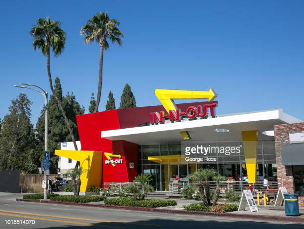 The In N Out Fast Food Hamburger Restaurant In Westwood