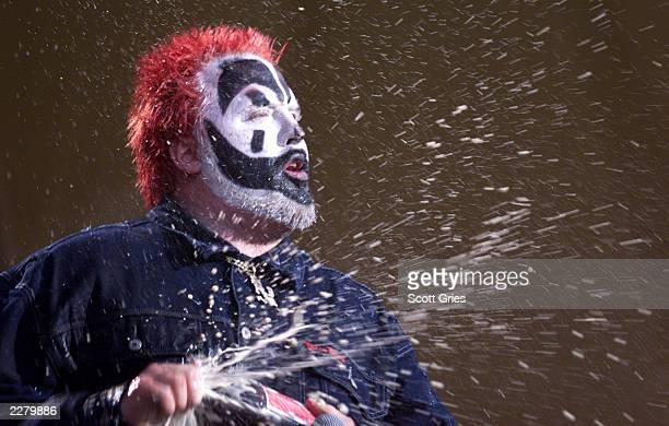The Insane Clown Posse performs on the west stage Friday at Woodstock '99 in Rome New York at Griffiss AFB Park for the 30th Anniversary Concert They...