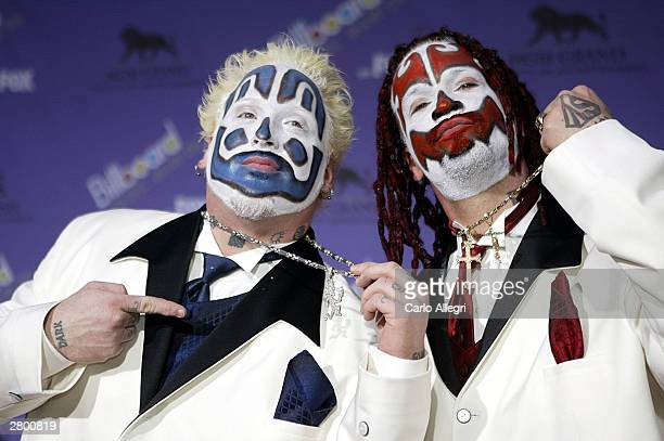 The Insane Clwon Posse attends the 2003 Billboard Music Awards at the MGM Grand Garden Arena December 10 2003 in Las Vegas Nevada The 14th annual...