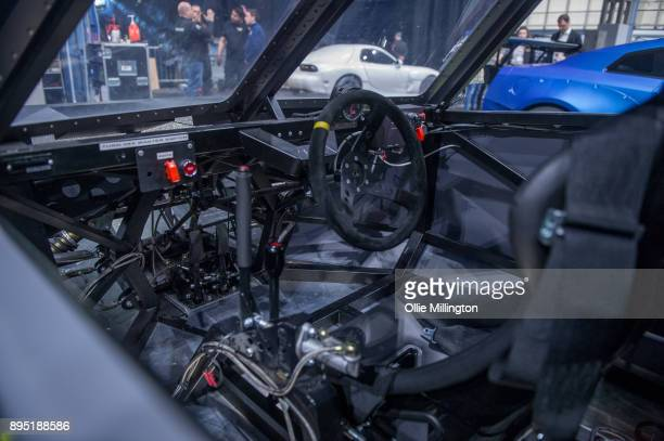 The inside of a screen used Deckard Shaw Fast Attack Buggy from The Fate of The Furious seen during the 'Fast Furious Live' technical rehearsal at...