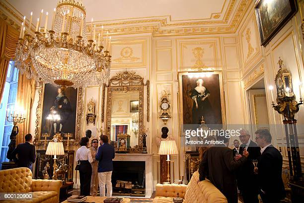 The inside of the Hotel de Feuquieres is seen during a cocktail on September 7 2016 in Paris France Sotheby's will sell the Robert Zellinger de...