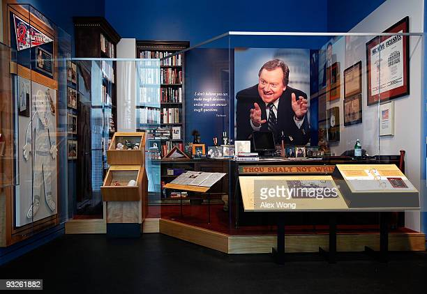 The Inside Tim Russert's Office If It's Sunday It's 'Meet the Press' exhibition opens at the Newseum November 20 2009 in Washington DC The exhibition...