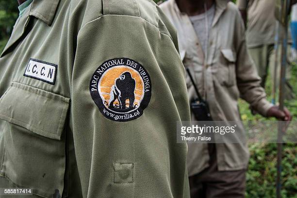 The insignia of the rangers working in the Virunga National Park The parc created in 1925 under the name of Albert National Park has a 7800 km2...