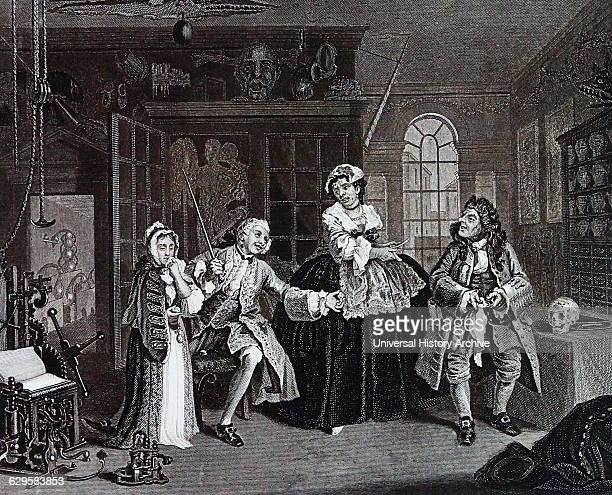 The inspection from Marriage a la mode by William Hogarth English painter printmaker pictorial satiriSaint The third in the series The Inspection...