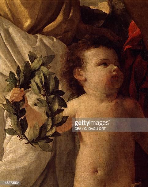 The inspiration of the poet ca 1630 by Nicolas Poussin oil on canvas 184x214 cm Detail Paris Musée Du Louvre
