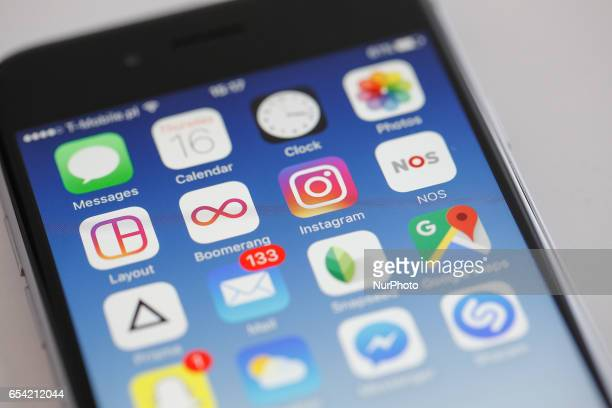 The Instagram app is seen on an iPhone on 16 March 2017