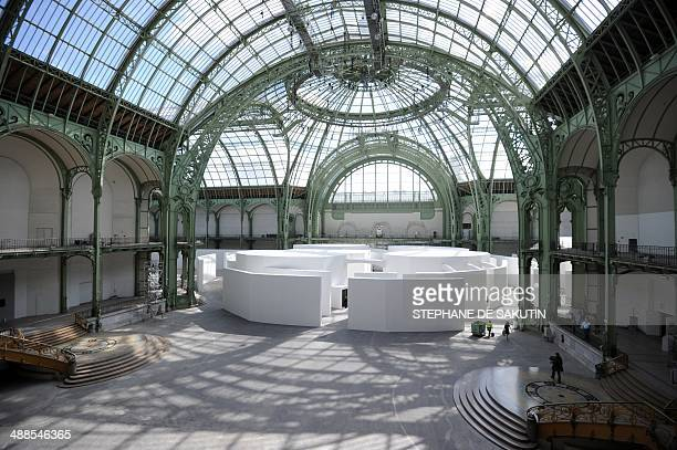 The installation entitled 'The strange city' by Russianborn artists Ilya and Emilia Kabakov is displayed on May 7 2014 during the Monumenta 2014...