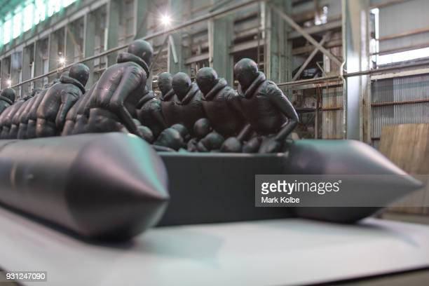 The installation 'Law of the Journey' by artist Ai Weiwei is seen as part of the 31st Biennale of Sydney at Cockatoo Island on March 13 2018 in...
