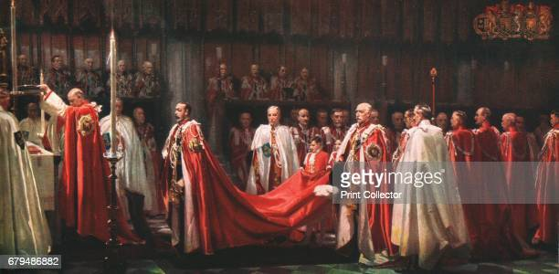 The Installation of the Knights of the Order of the Bath The King's Offering' 1928 From 'The Illustrated London News Silver Jubilee Record Number...