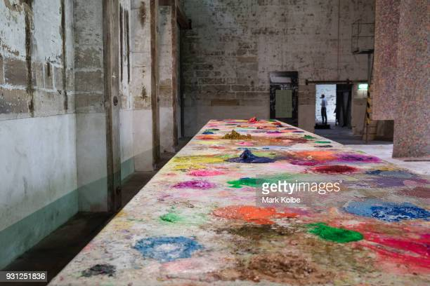 The installation 'Planes' by artist Mit Jai Inn is seen as part of the 31st Biennale of Sydney at Cockatoo Island on March 13 2018 in Sydney Australia