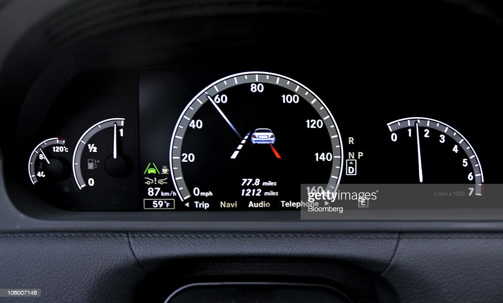 The instrument cluster of a 2011 Mercedes-Benz CL550 4MATIC luxury