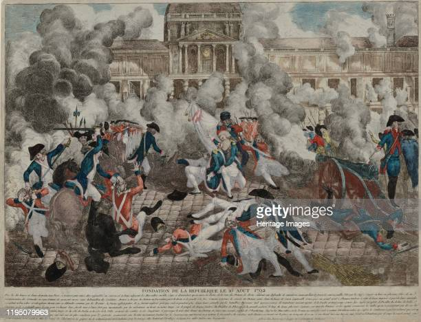 The Insurrection of 10 August 1792, 1792. Found in the Collection of Bibliothèque Nationale de France. Artist Anonymous.