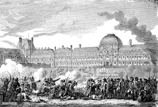 The Insurrection of 10 August 1792 was one of the defining events in the history of the French Revolution The storming of the Tuileries Palace by the...