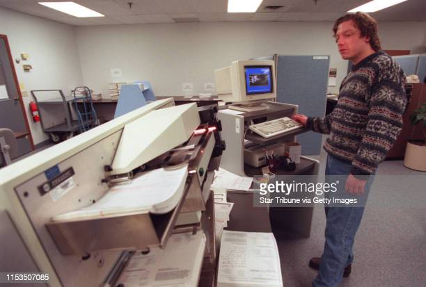 The Intelligent Character Recognition scanning setup used by this company to process ticket applications for the Atlanta Olympics Marc Larsen lead...