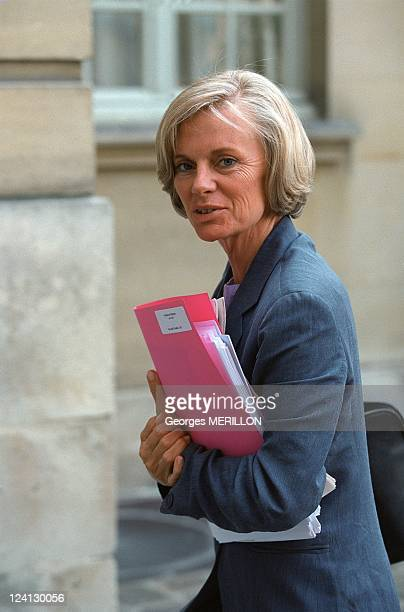 The interdepartmental meeting on Corsica In Paris France On July 19 2000 Elisabeth Guigou