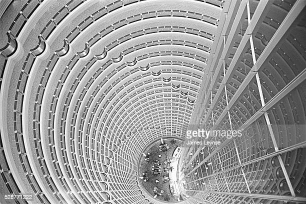 The interior atrium of the Grand Hyatt Hotel in Pudong The hotel which claims to be the tallest hotel in the world takes up the top half of the...