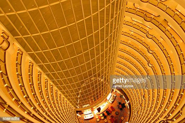 The interior atrium of the Grand Hyatt Hotel in Pudong The hotel which claims to be the tallest hotel in the world takes up the top half of the 88...