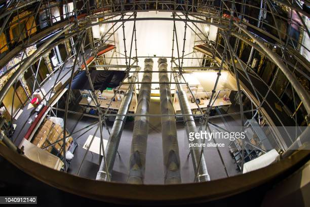The interior is covered in scaffolding at the Margravial Opera House in BayreuthGermany 17 May 2013 Anew information center is hoping to make it...