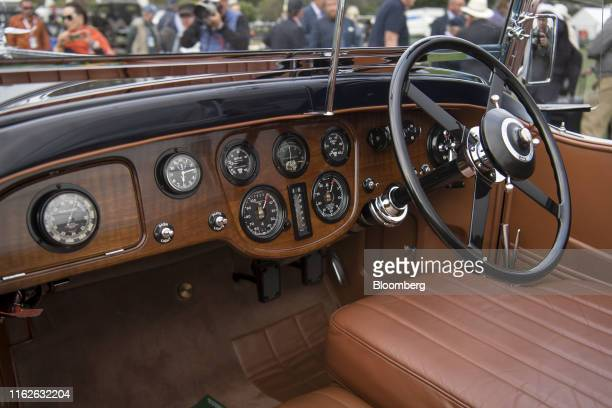 The interior of a 1931 Bentley 8 litre Gurney Nutting Sport Tourer, winner of the Best of Show award, owned by Michael Kadoorie, chairman of Hong...