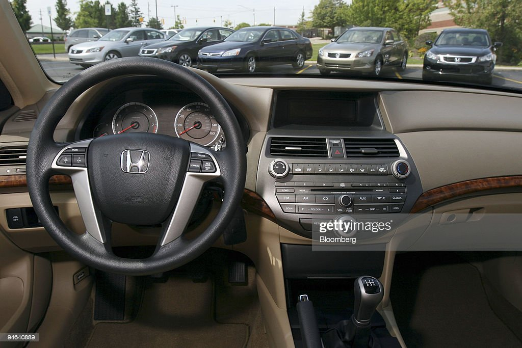 The Interior Of A 2008 Honda Accord Sedan Is Pictured During A Media
