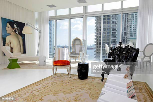 The interior of a model unit at the Brickell Icon condo development in Miami Florida US is shown on Wednesday Aug 12 2009 The developer of the...